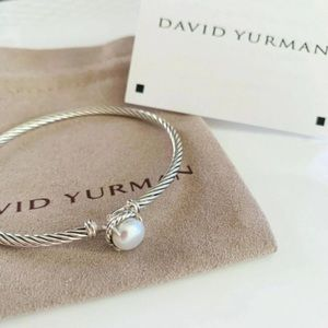 David Y Pearl Chatelaine Bangle 3mm Cable